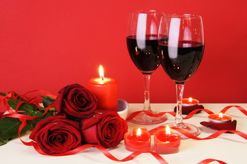 Romantic Candlelight Dinner Concept Horizontal