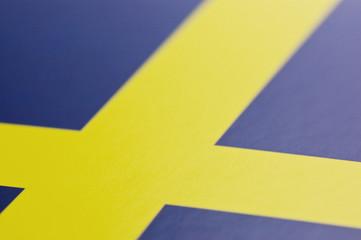 スウェーデンの国旗のアップ