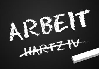 Tafel Arbeit/Hartz IV