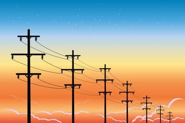 high voltage power lines