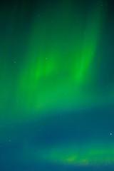 Night sky with dancing Aurora borealis