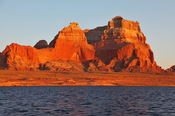 Magnificent red sandstone cliffs