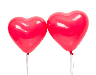 balloons in the form of heart