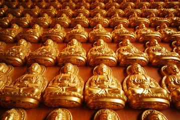 Pattern of gold chinese buddha