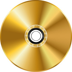 Vector gold disc
