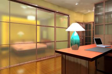 A modern workroom interior design