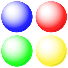 Different colors balls