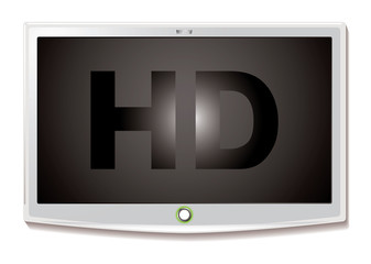 LCD TV HD white
