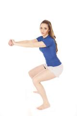 Fitness stretch squat