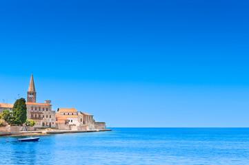 Porec old town in Croatia, Adriatic coast, touristic destination