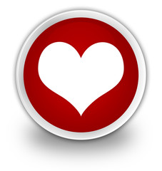 Love heart red button