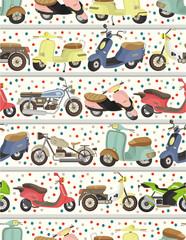 seamless motorcycle pattern