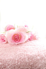 Elegance Pink roses and towel