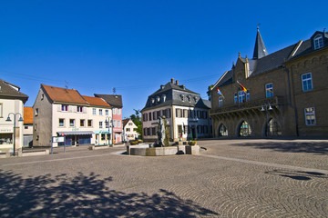 historic medieval market place in Bad Sobernheim