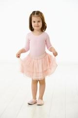 Little girl in ballet dress