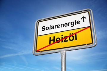 Solarenergie Heizöl