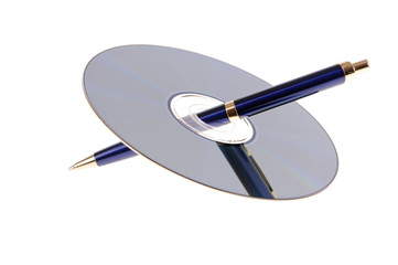 pen with disk