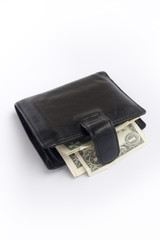 black male purse with dollars