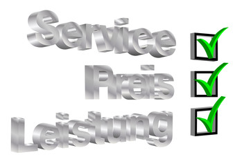 Service, Preis&Leistung mit Haken