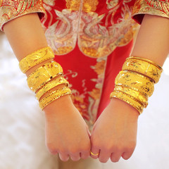 Golden wedding bangles