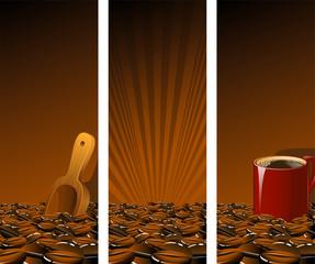 Brown Coffee Banners