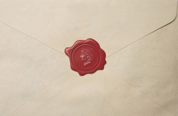 Brief mit Wachssiegel