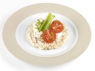 Rice Cake with Salad