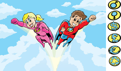 Poster Superheroes SuperHero kids