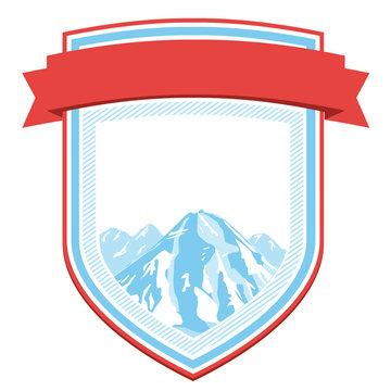 Vintage Mountain Wappen