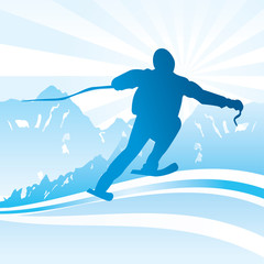 Ski and sport Background - vector illustration