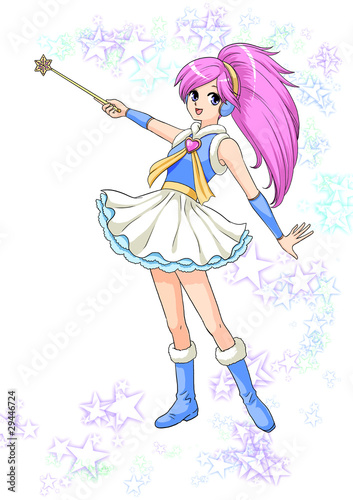 日本のアニメanime Manga 魔法少女イラストfotoliacom の ストック