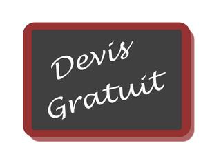 PANNEAU DEVIS GRATUIT