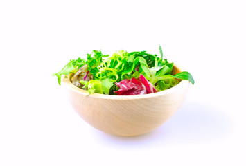 salad bowl isolated