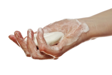 hand holding soap
