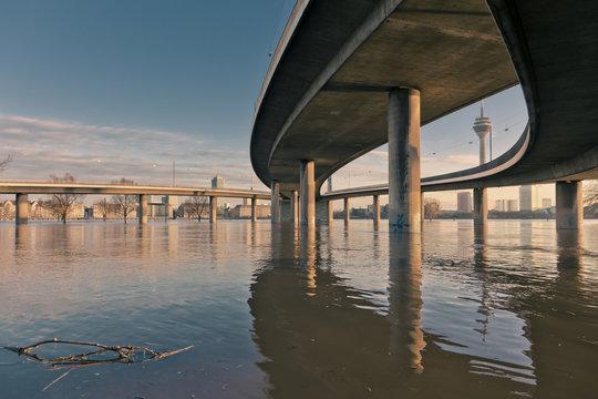 überflutete Stadt