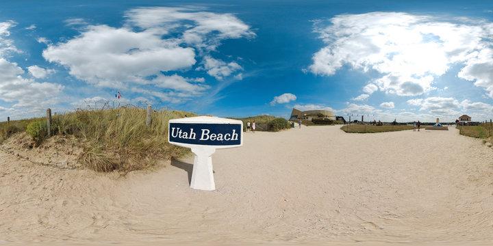 Le panneau de la plage d'Utah Beach  -  Basse Normandie