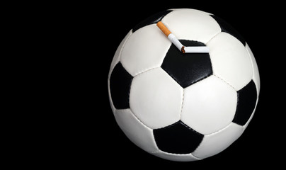 Ball and a broken cigarette