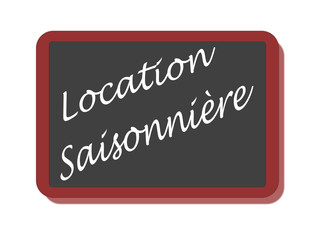 PANNEAU LOCATION SAISONNIERE