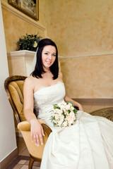 bride portrait in interior