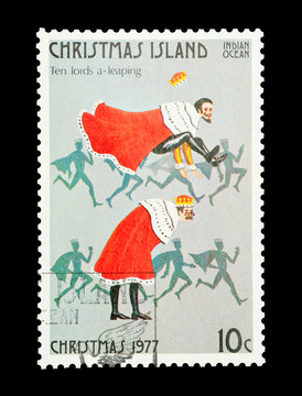 Christmas Island stamp tenth day of Christmas