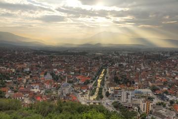 Prizren in Kosovo at sunset