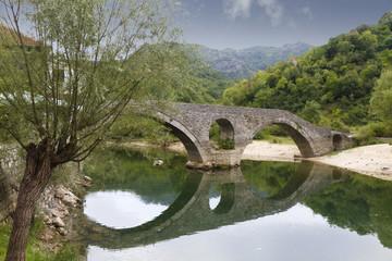 old bridge in Rijeka Crnojevica, Montenegro