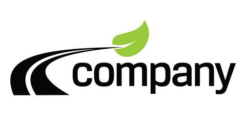 Eco fuel road  logo design