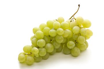 Fresh grape fuits isolated on white background