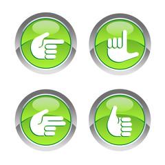 Buttons Handzeichen 5