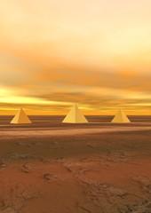 pyramids yellow