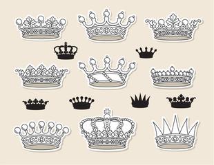 set vector crowns