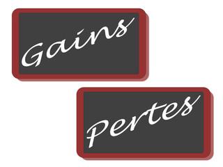 PANNEAUX GAINS PERTES