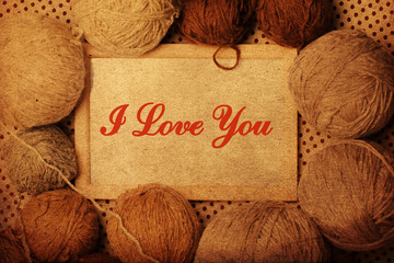 photoframe with brown yarn