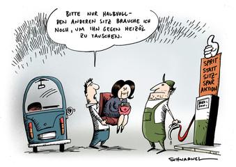 Benzin und Heizöl teurer